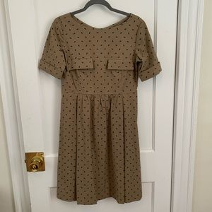 Orla Kiely Short Sleeve Dress in Baby Rhino Print